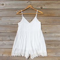 Fortune Teller Romper in White