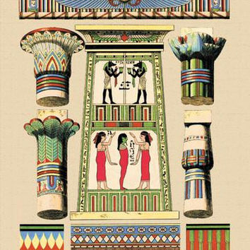 Egyptian Ornamental Architecture 20x30 poster