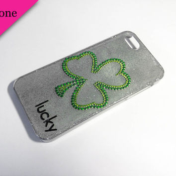 Bling Shamrock iPhone 5 Case