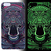 Bear Luminous Light Up Case Cover for iPhone 5s / iPhone 6s / iPhone 6s Plus