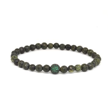 Forest Green Agate / Green CZ