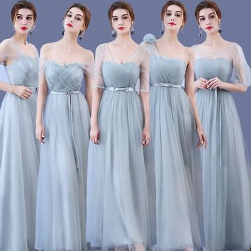 Beauty Emily Long Bridesmaid Dresses 2018 Green A-Line fashinable dress Off the Shoulder Homecoming Wedding Party Prom Dresses