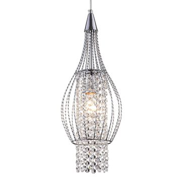 Pendant Lighting Chrome Crystal Chandelier 1 Light Ceiling Pendant Lights 17019