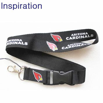 Arizona Cardinals Football Lanyard Neck Strap Necklace Key Lanyards ID Badge Holders Mobile Neck Straps With Keyring For Fans