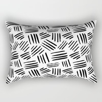 black mudcloth Rectangular Pillow by Sylvia Cook Photography