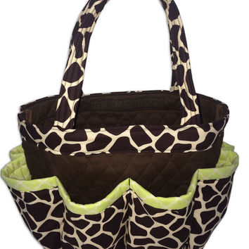Giraffe Bingo Bag // Craft Organizer // Makeup Organizer // Caddy // Teacher Tote // Nurse Tote