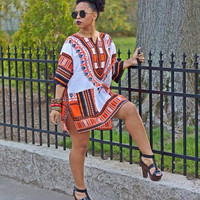 2016 women summer dress Traditional African Print Dashiki