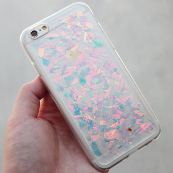 Holographic Hologram Flake iPhone 5/6/6 Plus/7/7 Plus Case