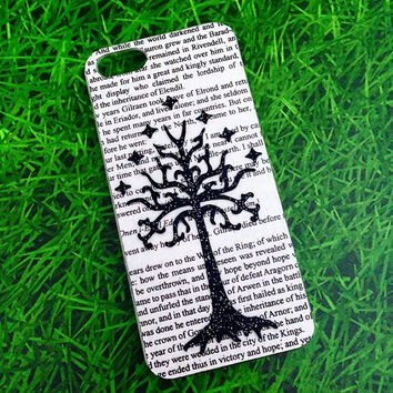 HANDMADE Real Book Page! The Lord Of The Rings Tlotr lotr The Hobbit iPhone 4 / 4s / 5 / 5s Samsung Phone Case   cover  5c All sizes! IPAD