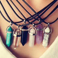 Quartz Pendant Fashion Necklace