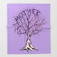Mother Throw Blanket by ES Creative Designs