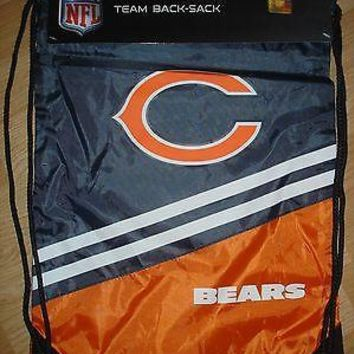 "NWT Chicago Bears NFL Team back sack draw string bag backpack 18"" x 13"""