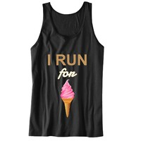I Run for Ice-Cream Unisex Tank Top - For Gym Time - Great Motivation
