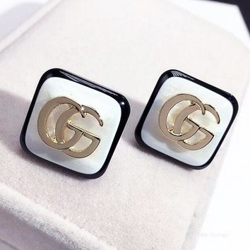 GUCCI Fashionable Women Simple GG Letter Earrings Accessories Jewelry