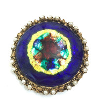 "Rare Juliana D&E ""French Limoges"" Brooch"