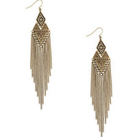Tribal Pattern Fringe Earrings