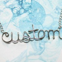 Custom Necklace Any word name or short phrase by Exaltation