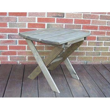 A & L Furniture Co. Amish Made Pressure Treated Folding End Table  - Ships FREE in 5-7 Business days