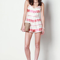 Candy Stripes Ribbon Romper - LoveCulture