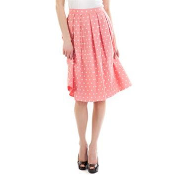 Freeway Women's Contemporary Polka Dot Pleated Skirt at Von Maur