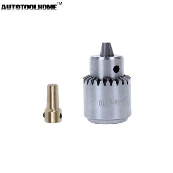AUTOTOOLHOME Mini Electric Drill Chuck 0.3-4mm JTO Taper Mounted Lathe For 2.3 3.17 Motor Shaft Connect Rod PCB Wood Press Tool