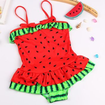 One Piece Watermelon Swimwear 3-5Y