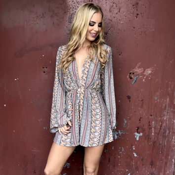Play The Field Paisley Romper