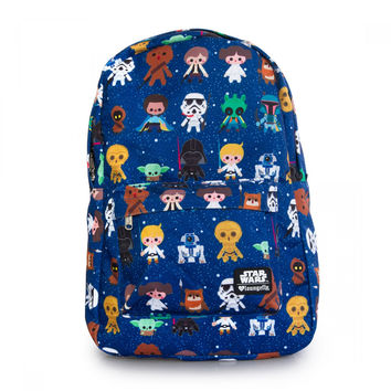 LOUNGEFLY STAR WARS BABY CHARACTER PRINT BACKPACK