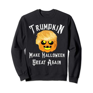 Trump Pumpkin Make Halloween Great Again Costume Sweatshirt