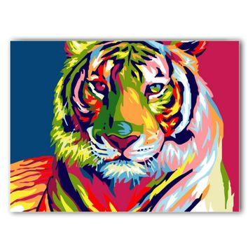 DIY Wall Decor Paint Figure Painting Frame less Pictures Painting By Numbers Canvas Oil Painting On Canvas Tiger Oil Paintings