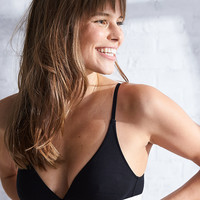 Aerie Tomgirl Triangle Bralette, True Black