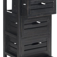 Sarina 5 Drawer Cabinet Black