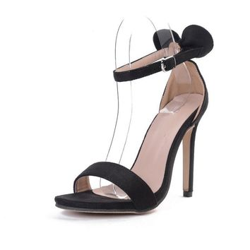 Summer New Sexy Open toe women's high heels shoes woman Butterfly-knot stilettos pumps ankle strap buckle sandals
