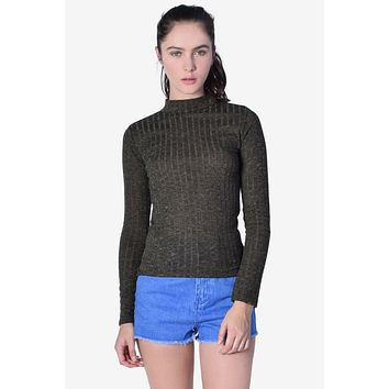 Candice Light Ribbed Sweater - Olive