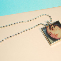 League of Legends icon and quote necklace