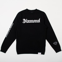 DIAMOND4LIFE Crewneck Sweatshirt in Black