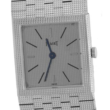 Vintage Piaget Solid 18K White Gold Manual 23mm Watch 9131C4 Men's Women's