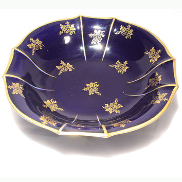 Lindner Echt Cobalt Footed Bowl