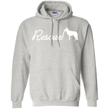 rescue me - dogs are our best friends -01  G185 Gildan Pullover Hoodie 8 oz.