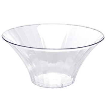 Clear Plastic Flared Bowl Candy Container - Large