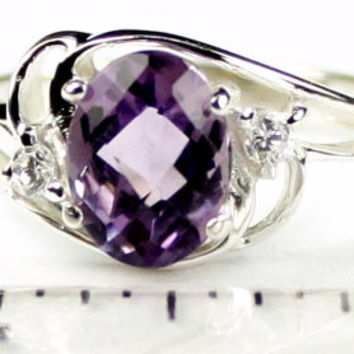 Christmas Sale: 30% Off, SR176, Amethyst, 925 Sterling Silver Ring