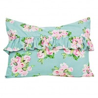 Wake Up Frankie - Summer Flower, Some Are Not Standard Sham (Spa Blue) : Teen Bedding, Pink Bedding, Dorm Bedding, Teen Comforters
