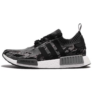 adidas Originals NMD_R1 PK Boost PrimeKnit Black Glitch Camo Men Shoes BZ0223