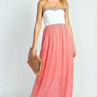 Avah Embellished Sweetheart Maxi Dress