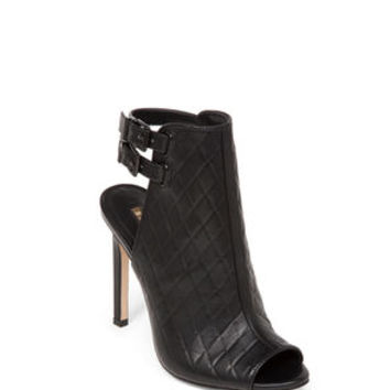 Comet High-Heel Quilted Peep-Toe Bootie in Black - BCBGeneration