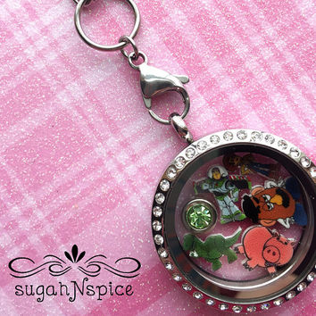 Toy Story Floating Locket - Toy Story Floating Necklace - Toy Story Floating Charms - Toy Story Memory Charms - Stainless Steel Locket