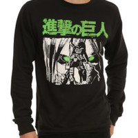 Attack On Titan Green Eyes Crew Pullover