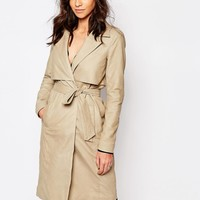 Y.A.S Willow Leather Trench Coat