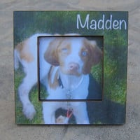 Personalized Pet Memorial Picture Frame, Custom Dog, Cat, Pet Picture Frame, Unique Christmas Gift, Pet Photo Frame