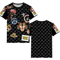 """Hot Sale """"GUCCI"""" Popular Women Men Personality Print Short Sleeve Round Collar T-Shirt Pullover Top"""